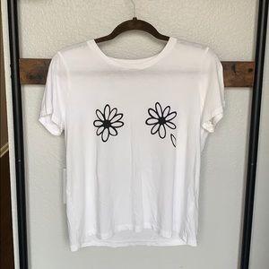 Madewell Flower Boob Shirt